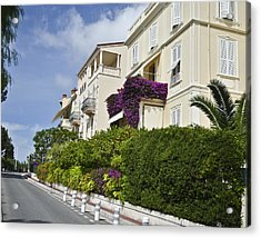 Acrylic Print featuring the photograph Street In Monaco by Allen Sheffield
