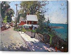 Street In Olcott Beach  Acrylic Print