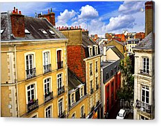 Street In Rennes Acrylic Print by Elena Elisseeva