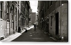 Street In Sunshine Acrylic Print by Jocelyne Choquette