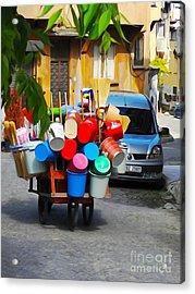 Street Istanbul Acrylic Print by Lutz Baar