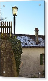 Acrylic Print featuring the photograph Street Lamp At The Castle  by Felicia Tica