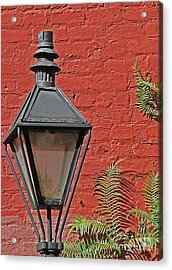 Street Lamp Acrylic Print by Jeanne  Woods