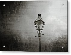 Street Lamp On The River Acrylic Print