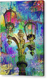 Street Lamp Rainbows Acrylic Print by John Fish