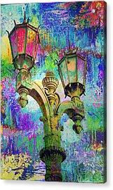 Street Lamp Rainbows Acrylic Print