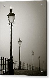 Street Lamps Acrylic Print by Dave Bowman