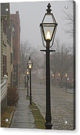Street Lamps On Johnny Cake Hill Acrylic Print