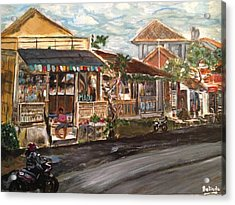 Acrylic Print featuring the painting Street Life by Belinda Low