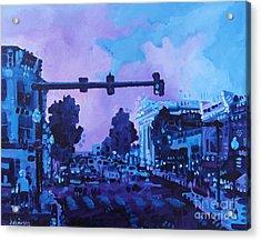 Street Life On Broad Street Acrylic Print by Michael Ciccotello