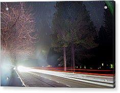 Street, Lights, And Stars Acrylic Print by Vwpics - Roberto Lopez