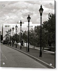Acrylic Print featuring the photograph Street Lights by Roseann Errigo