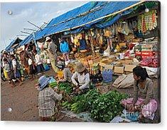 Street Market In Siem Reap Acrylic Print