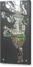 Street Mirror Acrylic Print by Shan Peck