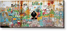 Street Mural At Liguanea Acrylic Print by Laurel Talabere