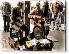 Street Music Acrylic Print by Spencer McDonald