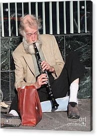 Street Musician Acrylic Print by John Telfer