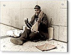 Street Musician Acrylic Print