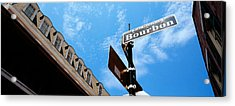 Street Name Signboard On A Pole Acrylic Print by Panoramic Images