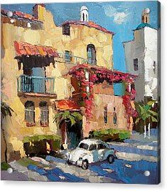 Street Of Playa Del Carmen Acrylic Print by Dmitry Spiros
