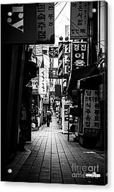 Street Of Signboard Acrylic Print by Yoo Seok Lee