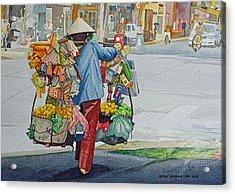 Street Peddler Acrylic Print