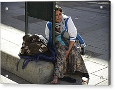 Street People - A Touch Of Humanity 10 Acrylic Print by Teo SITCHET-KANDA