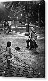 Street Performance Acrylic Print by Tom Bell
