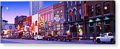 Street Scene At Dusk, Nashville Acrylic Print by Panoramic Images