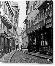 Acrylic Print featuring the photograph Street Scene Braunschweig Germany 1903 by A Gurmankin