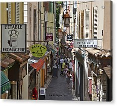 Acrylic Print featuring the photograph Street Scene In Antibes by Allen Sheffield