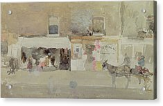 Street Scene In Chelsea Acrylic Print by James Abbott McNeill Whistler