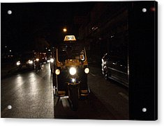 Street Scene - Night Street Market - Chiang Mai Thailand - 01132 Acrylic Print by DC Photographer