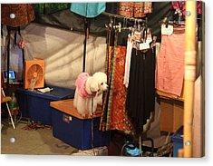 Street Scene - Night Street Market - Chiang Mai Thailand - 01134 Acrylic Print