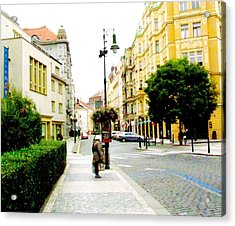 Street Scene Prague Acrylic Print