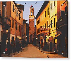 Acrylic Print featuring the painting Street Scene by Sophia Schmierer