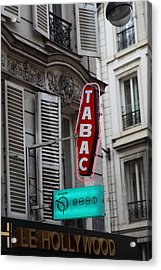 Street Scenes - Paris France - 011340 Acrylic Print by DC Photographer