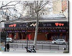 Street Scenes - Paris France - 011346 Acrylic Print by DC Photographer