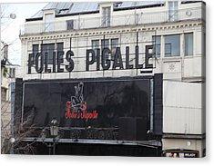 Street Scenes - Paris France - 011350 Acrylic Print by DC Photographer