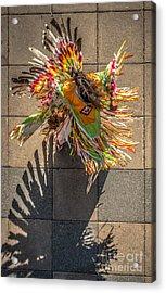 Street Shadow Dancer Acrylic Print