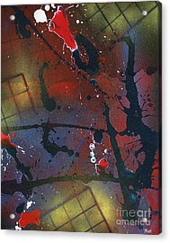 Acrylic Print featuring the painting Street Spirit by Roz Abellera Art