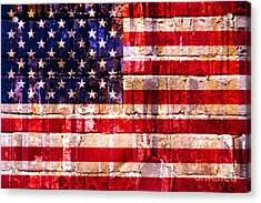 Street Star Spangled Banner Acrylic Print by Delphimages Photo Creations
