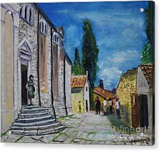 Street View In Rovinj Acrylic Print