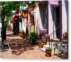 Alexandria Va - Street With Art Gallery And Tobacconist Acrylic Print