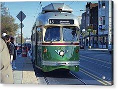 Streetcar In Philadelphia Acrylic Print by Eric Miller