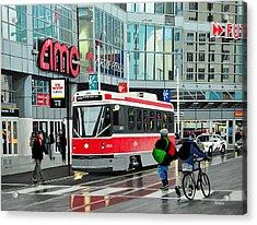 Streetcar On Dundas Acrylic Print by Kenneth M  Kirsch