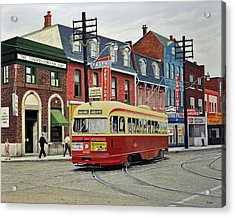 Streetcar On Queen Street 1963 Acrylic Print by Kenneth M  Kirsch