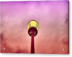 Streetlight And Clouds Acrylic Print by J Riley Johnson