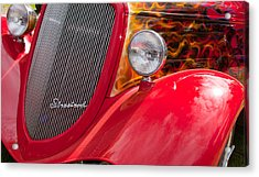 Acrylic Print featuring the photograph Streetrod Red by Mick Flynn
