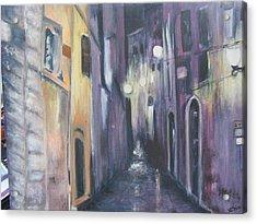 Streets Of Alatri Italy Acrylic Print
